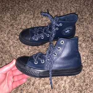 Converse Kids Blue Leather High Top Size 12
